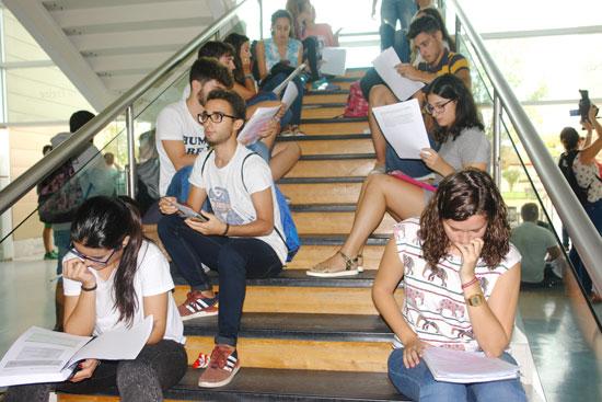 Imagen de estudiantes durante la prueba de selectividad,