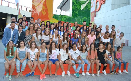 Presentación del Sporting de Huelva.