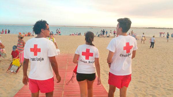 Imagen de voluntarios de Cruz Roja durante una jornada de trabajo.