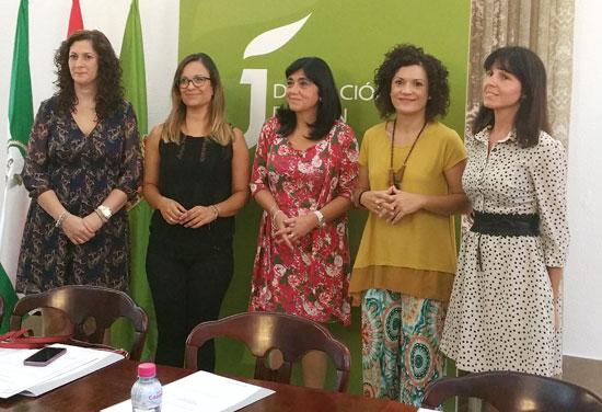 Las representantes de las distintas diputaciones andaluzas durante la reunión.