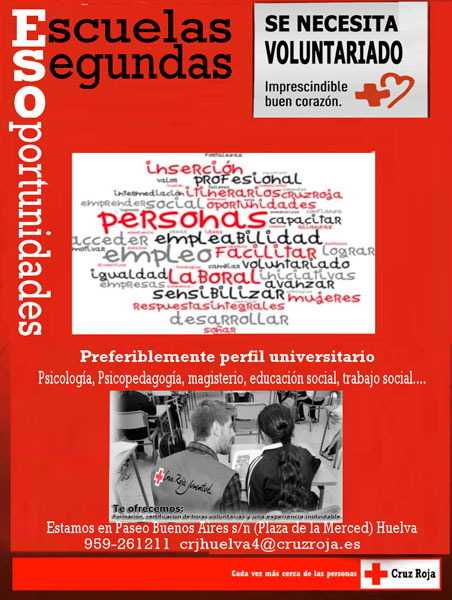 Imagen del proyecto 'Escuelas de Segundas Oportunidades' de Cruz Roja Huelva.