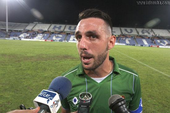 Rubén Gálvez después del encuentro.