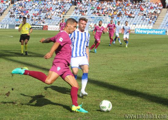 Partido de ida entre el Recreativo de Huelva y el F.C. Jumilla.