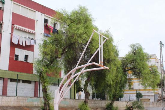 Imagen del estado de una infraestructura deportiva.