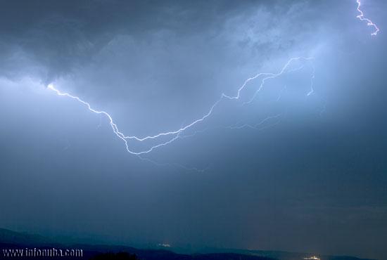 Imagen de una tormenta eléctrica.