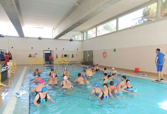 Imagen de una actividad de natación.