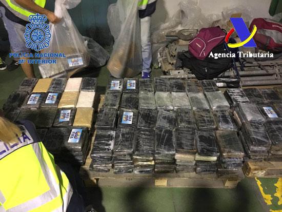 Imagen de la cocaína incautada en la Operación Kalima.