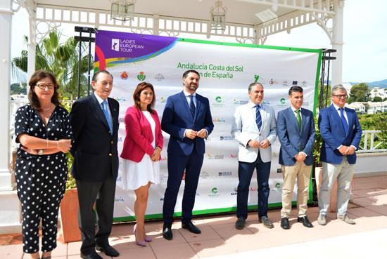 El consejero de Turismo y Deporte, Francisco Javier Fernández, presentó en la jornada de ayer la próxima edición del 'Andalucía Costa del Sol-Open de España' femenino que se disputará en Marbella  entre los próximos 22 y 25 de septiembre y reunirá a la élite del golf europeo.
