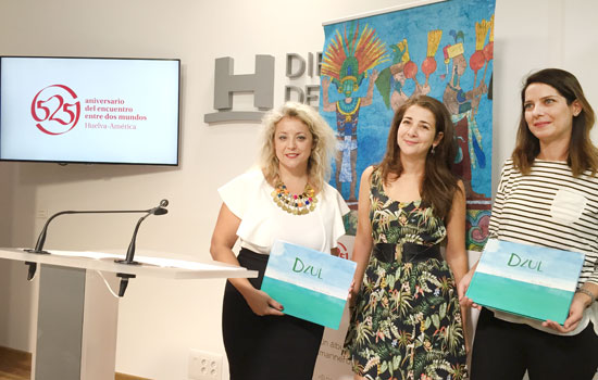 Imagen de la presentación de Dzul en la Diputación de Huelva.