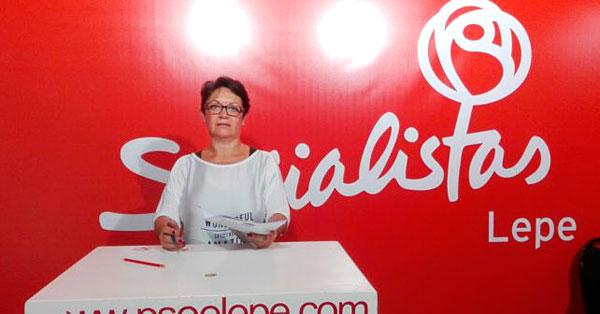 María Bella Martín en rueda de prensa.