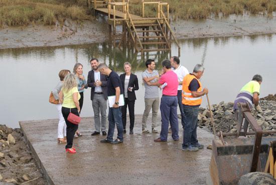 Imagen de la visita a las obras.