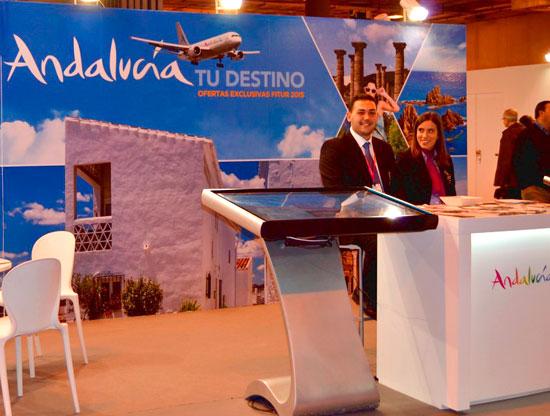 Imagen del stand de Andalucía en Fitur 2016.