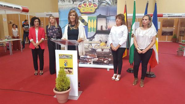 Acto de inauguración de la XV Feria Cinegética y de Productos Naturales de San Silvestre de Guzmán.