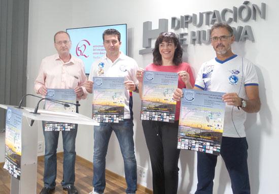 Acto de presentación del II Open Solidario de Pesca en Kayak 'Playa de Mazagón'.
