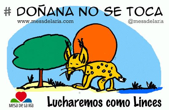 Imagen de la Campaña #Doñananosetoca de Mesa de la Ría.
