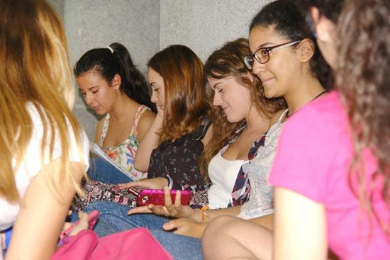 Los estudiantes durante en las pruebas de selectividad.