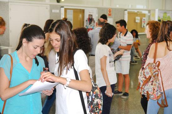 Estudiantes durante las pruebas de selectividad.