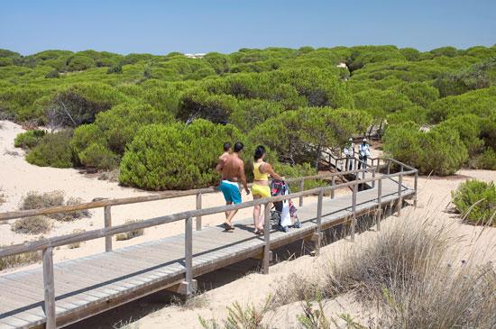 Imagen de turistas en una de las magníficas playas de la provincia de Huelva.