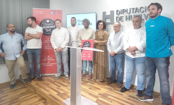 La vicepresidenta de la Diputación de Huelva, María Eugenia Limón, ha presentado hoy 'Tandem Cooking. Huelva que Alimenta'