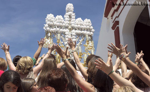 Imagen de la celebración de la Cruces de Mayo.