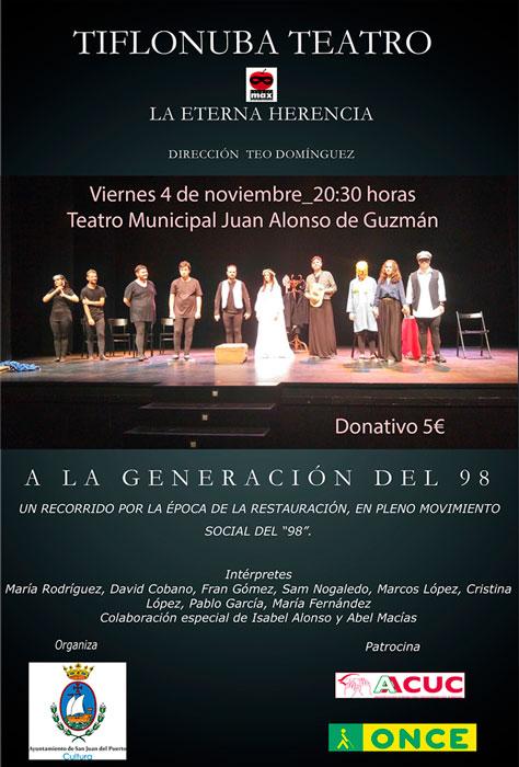 Cartel de la obra  'La eterna herencia' de Tiflonuba Teatro.