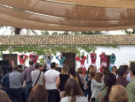 Actuación de baile flamenco.