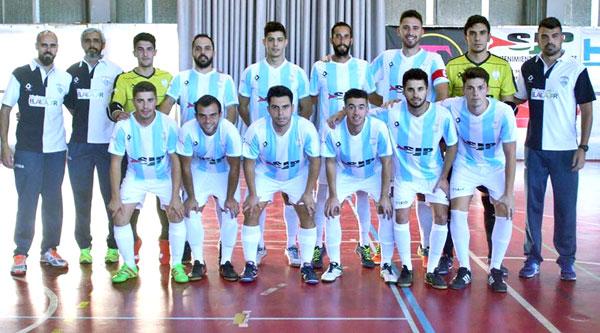 Equipo del SJP San Juan FS ante el Alchoyano.