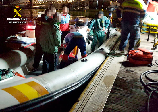 Imagen de la actuación de rescate.