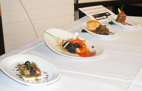 Algunos platos que concursaron el pasado año.