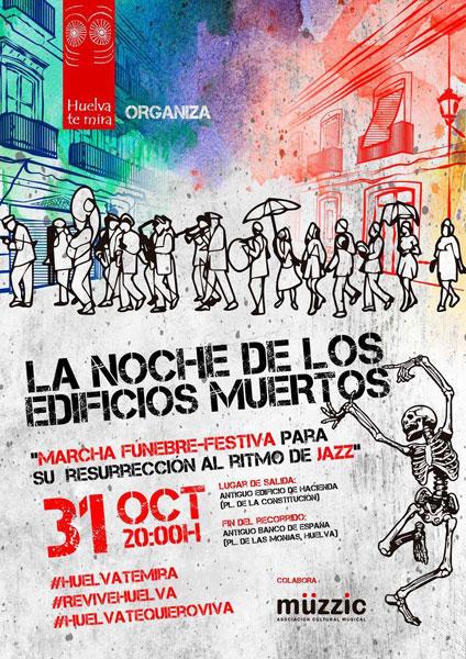 """Cartel de la actividad """"La noche de los edificios muertos""""."""