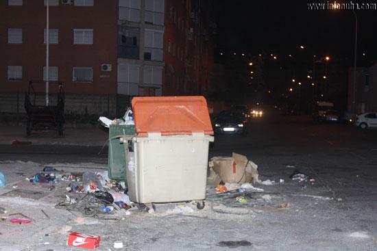 Imagen de los diferentes residuos en el lugar.