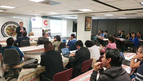 Imagen del taller impartido en Quito.