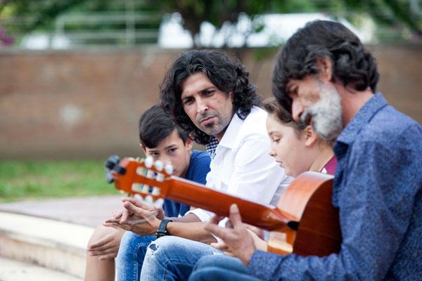 Imagen de la participación de Árcangel en el documental.