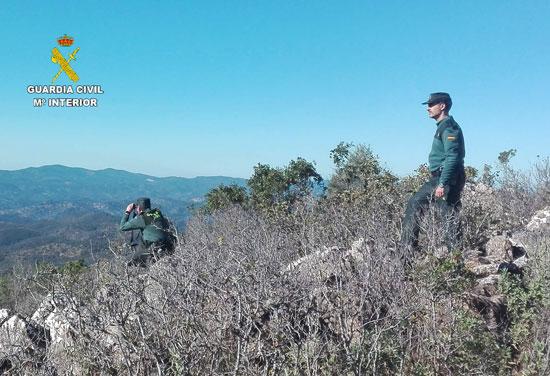 Agentes de la Guardia Civil durante un operativo de búsqueda.