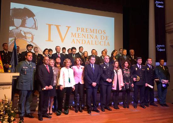 Foto de familia de los Premios Menina de Andalucía.