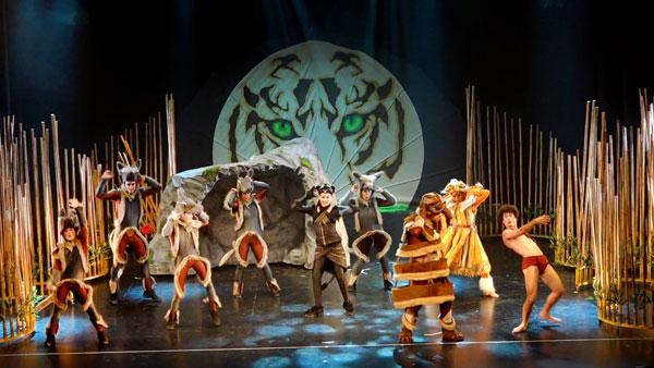 Imagen del musical infantil 'La aventura de Mowgli'.