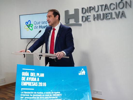 José Luis Ramos durante el anuncio de las ayudas Pymes.
