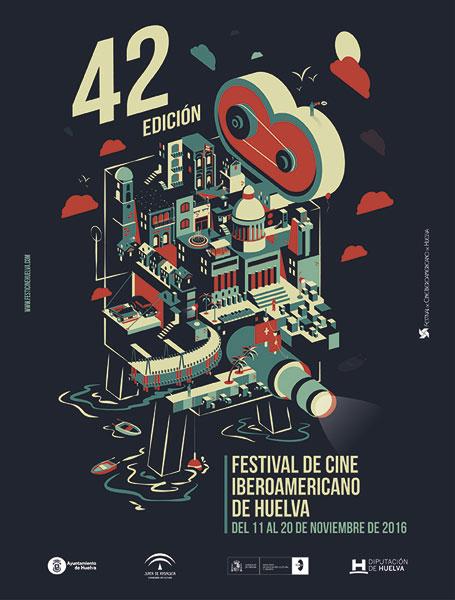 Cartel de la 42 edición del Festival de Cine Iberoamericano