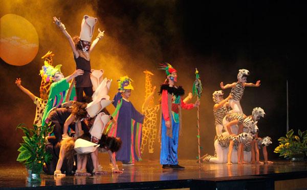 Imagen de la representación del musical.