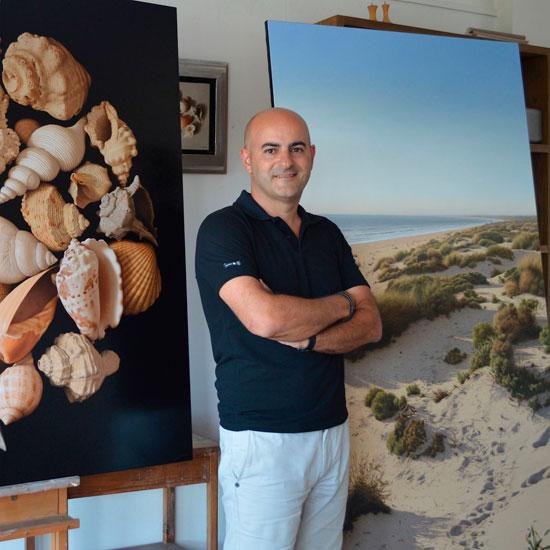 Antonio Cazorla en su estudio.