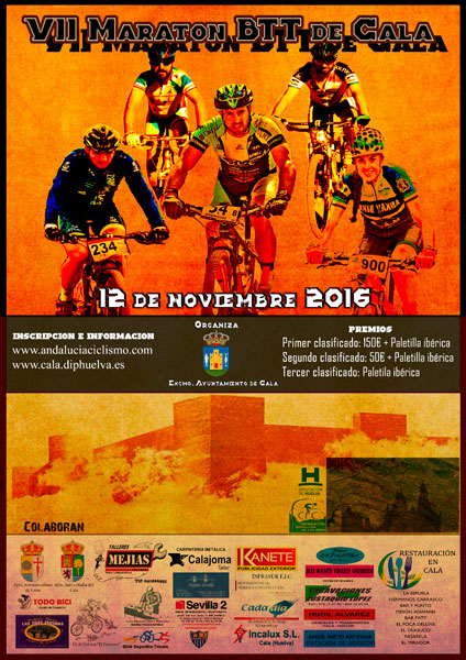 Cartel de la VII edición del Maratón BTT de Cala.