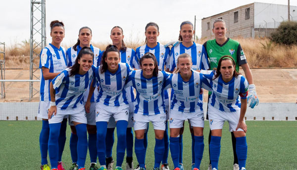 Imagen de un once inicial del Sporting Club de Huelva.