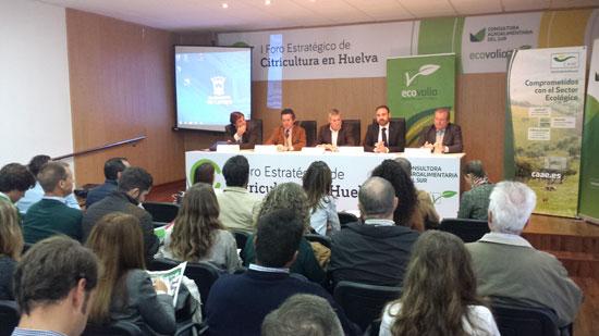 Inauguración del I Foro Estratégico de la Citricultura de Huelva.