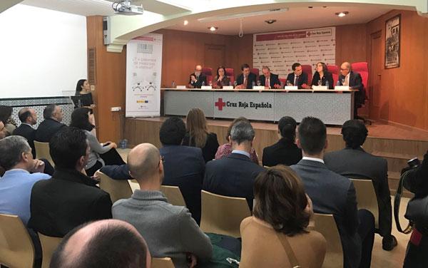 Imagen del acto de agradecimiento de Cruz Roja a las empresas onubenses.