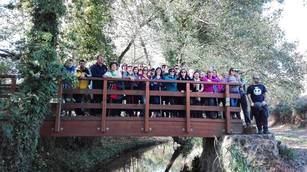 Participantes en la ruta didáctica ambiental.