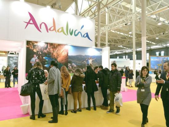 Imagen del stand de Andalucía en INTUR.