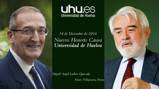 Cartel de la ceremonia de nombramiento de Honoris Causa de la UHU.