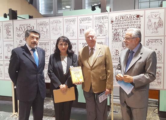 (De izquierda a derecha), Javier Barrero,Gabriela Porras, José Luis Garcia Palacios y Jaime de Vicente.