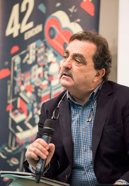 Eduardo Moyano durante su intervención en el acto de presentación.