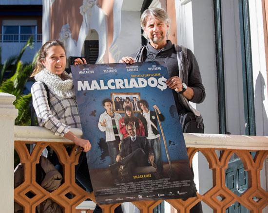 Natalia Echeverri y Víctor Mallarino durante la presentación de la película en la jornada de ayer.